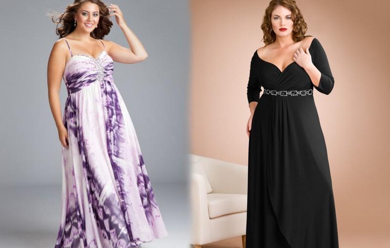 Vestido de noche para mujeres gorditas