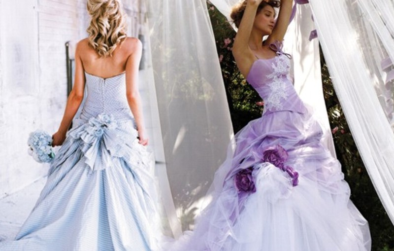 Vestidos de novia de colores: rompiendo estructuras