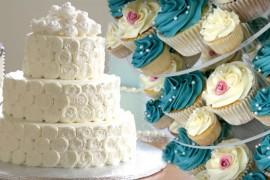 cupcakes para boda o pastel de boda
